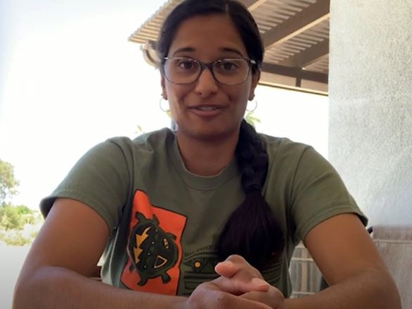 Screenshot of Tiffany Pereira, Assistant Research Scientist at the Desert Research Institute